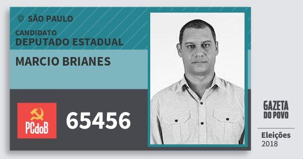 Santinho Marcio Brianes 65456 (PC do B) Deputado Estadual   São Paulo   Eleições 2018