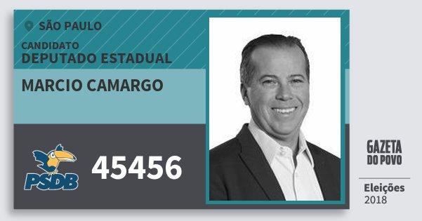 Santinho Marcio Camargo 45456 (PSDB) Deputado Estadual | São Paulo | Eleições 2018