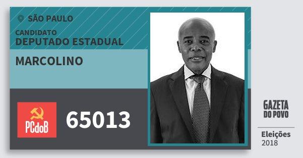 Santinho Marcolino 65013 (PC do B) Deputado Estadual | São Paulo | Eleições 2018