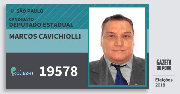 Santinho Marcos Cavichiolli 19578 (PODE) Deputado Estadual   São Paulo   Eleições 2018