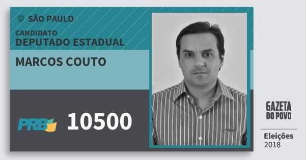 Santinho Marcos Couto 10500 (PRB) Deputado Estadual | São Paulo | Eleições 2018