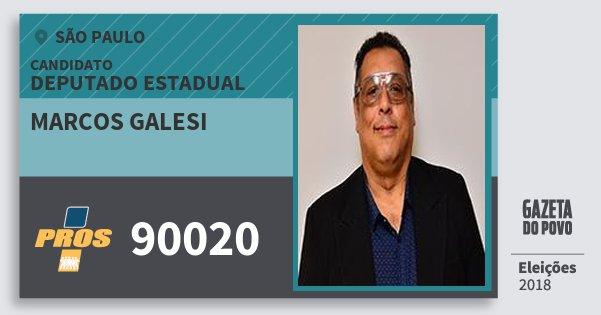 Santinho Marcos Galesi 90020 (PROS) Deputado Estadual | São Paulo | Eleições 2018