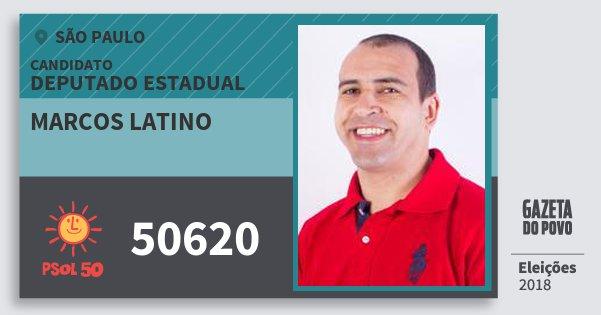 Santinho Marcos Latino 50620 (PSOL) Deputado Estadual | São Paulo | Eleições 2018