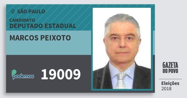 Santinho Marcos Peixoto 19009 (PODE) Deputado Estadual | São Paulo | Eleições 2018