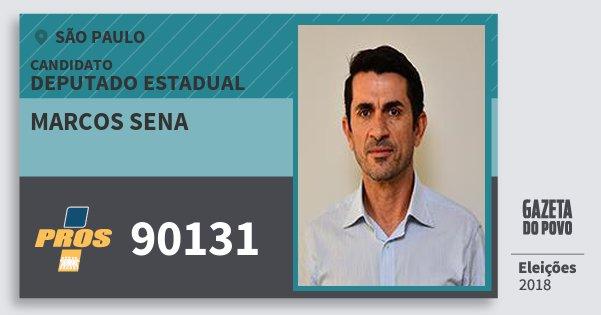 Santinho Marcos Sena 90131 (PROS) Deputado Estadual | São Paulo | Eleições 2018