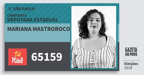 Santinho Mariana Mastroroco 65159 (PC do B) Deputada Estadual   São Paulo   Eleições 2018