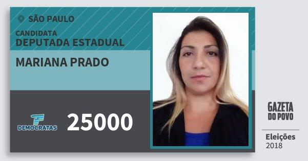 Santinho Mariana Prado 25000 (DEM) Deputada Estadual | São Paulo | Eleições 2018