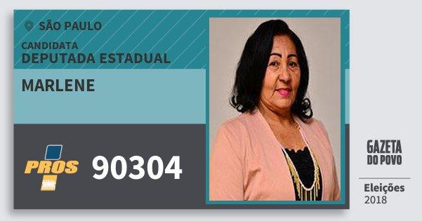 Santinho Marlene 90304 (PROS) Deputada Estadual | São Paulo | Eleições 2018