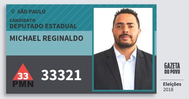 Santinho Michael Reginaldo 33321 (PMN) Deputado Estadual | São Paulo | Eleições 2018