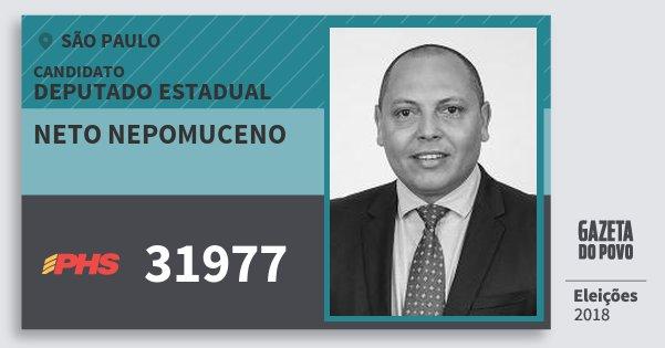 Santinho Neto Nepomuceno 31977 (PHS) Deputado Estadual   São Paulo   Eleições 2018