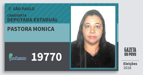 Santinho Pastora Monica 19770 (PODE) Deputada Estadual   São Paulo   Eleições 2018