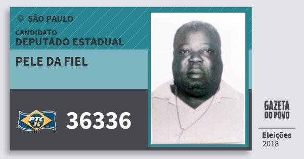 Santinho Pele da Fiel 36336 (PTC) Deputado Estadual   São Paulo   Eleições 2018