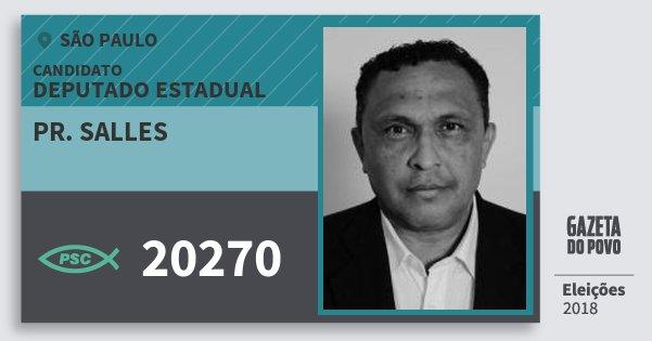 Santinho Pr. Salles 20270 (PSC) Deputado Estadual   São Paulo   Eleições  2018 1e80122139
