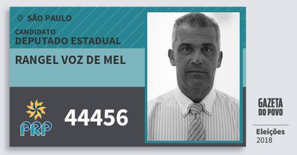 Santinho Rangel Voz de Mel 44456 (PRP) Deputado Estadual | São Paulo | Eleições 2018