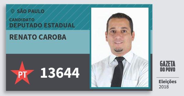 Santinho Renato Caroba 13644 (PT) Deputado Estadual   São Paulo   Eleições  2018 ddbe2c70fe
