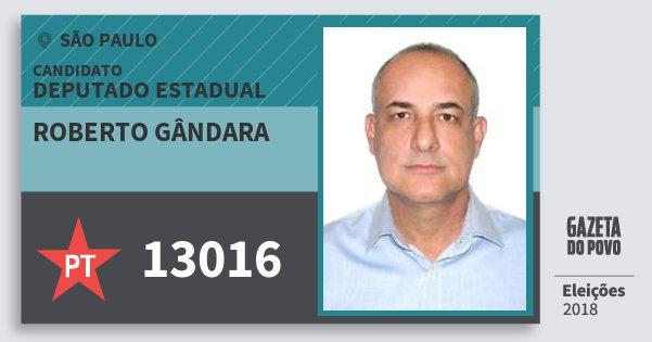 Santinho Roberto Gândara 13016 (PT) Deputado Estadual   São Paulo   Eleições 2018