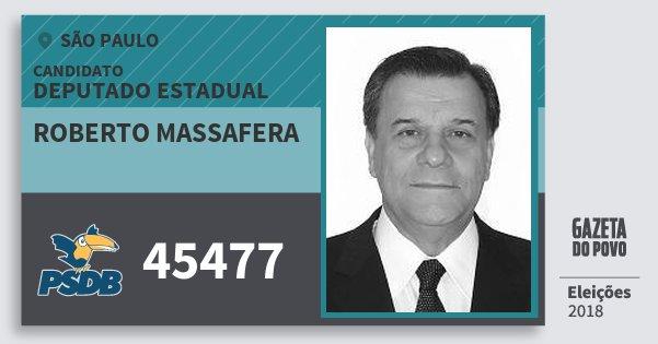 Santinho Roberto Massafera 45477 (PSDB) Deputado Estadual   São Paulo   Eleições 2018