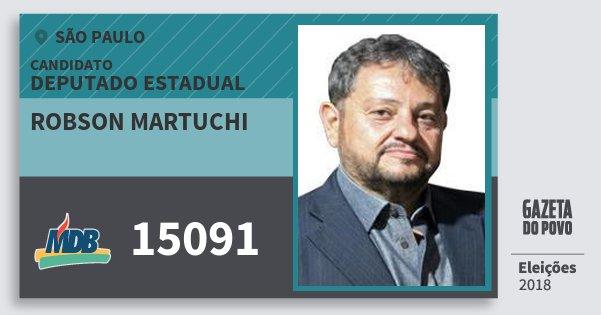 Santinho Robson Martuchi 15091 (MDB) Deputado Estadual   São Paulo   Eleições 2018