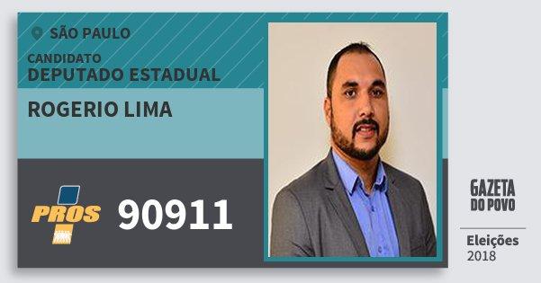 Santinho Rogerio Lima 90911 (PROS) Deputado Estadual | São Paulo | Eleições 2018