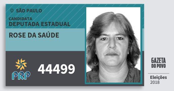 Santinho Rose da Saúde 44499 (PRP) Deputada Estadual   São Paulo   Eleições 2018