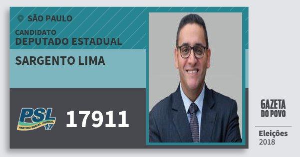 Santinho Sargento Lima 17911 (PSL) Deputado Estadual | São Paulo | Eleições 2018