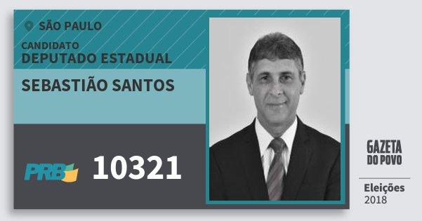 Santinho Sebastião Santos 10321 (PRB) Deputado Estadual | São Paulo | Eleições 2018