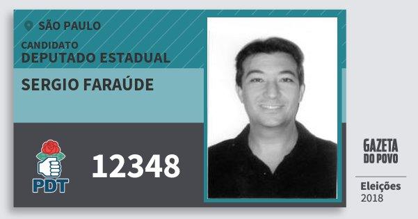 Santinho Sergio Faraúde 12348 (PDT) Deputado Estadual   São Paulo   Eleições 2018