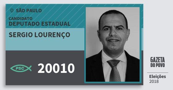 Santinho Sergio Lourenço 20010 (PSC) Deputado Estadual   São Paulo    Eleições 2018 b5b0955de6