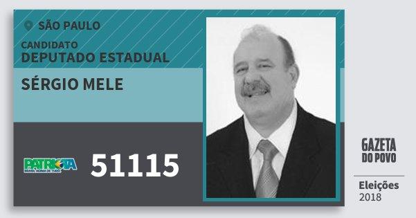 Santinho Sérgio Mele 51115 (PATRI) Deputado Estadual   São Paulo   Eleições  2018 18b9d5eb73