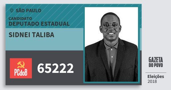 Santinho Sidnei Taliba 65222 (PC do B) Deputado Estadual | São Paulo | Eleições 2018