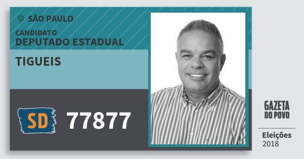 Santinho Tigueis 77877 (SOLIDARIEDADE) Deputado Estadual | São Paulo | Eleições 2018