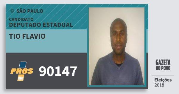 Santinho Tio Flavio 90147 (PROS) Deputado Estadual   São Paulo   Eleições 2018