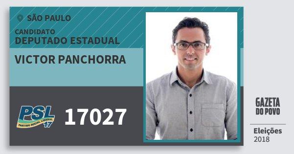 Santinho Victor Panchorra 17027 (PSL) Deputado Estadual | São Paulo | Eleições 2018