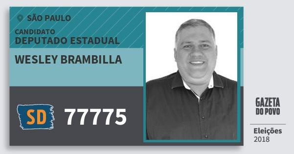 54ddc5870d129 Santinho Wesley Brambilla 77775 (SOLIDARIEDADE) Deputado Estadual