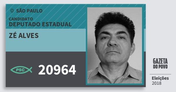 Santinho Zé Alves 20964 (PSC) Deputado Estadual   São Paulo   Eleições 2018 094c9554c3