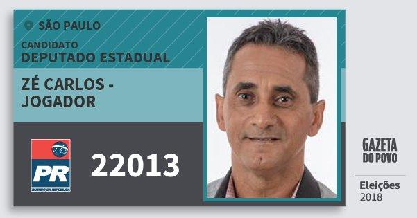 Santinho Zé Carlos - Jogador 22013 (PR) Deputado Estadual | São Paulo | Eleições 2018