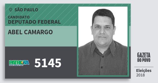 Santinho Abel Camargo 5145 (PATRI) Deputado Federal | São Paulo | Eleições 2018
