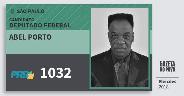 Santinho Abel Porto 1032 (PRB) Deputado Federal | São Paulo | Eleições 2018
