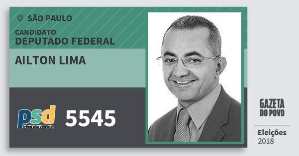 Santinho Ailton Lima 5545 (PSD) Deputado Federal | São Paulo | Eleições 2018