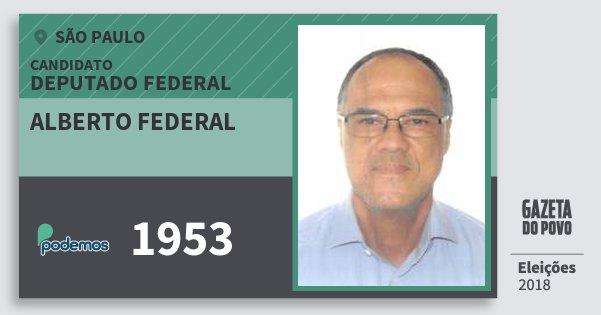 Santinho Alberto Federal 1953 (PODE) Deputado Federal | São Paulo | Eleições 2018
