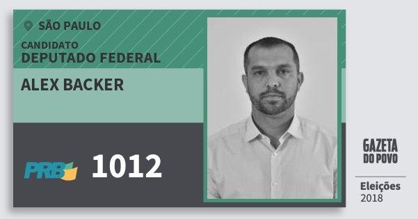 Santinho Alex Backer 1012 (PRB) Deputado Federal | São Paulo | Eleições 2018