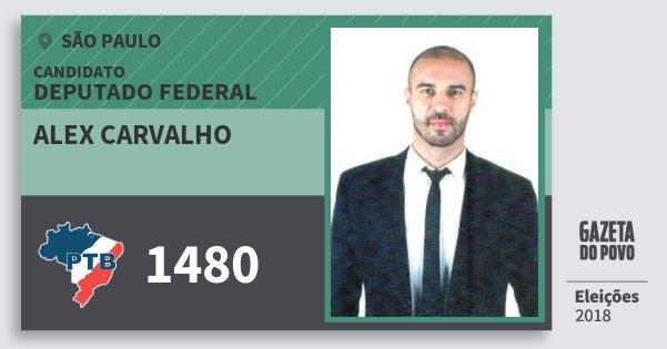 Santinho Alex Carvalho 1480 (PTB) Deputado Federal | São Paulo | Eleições 2018