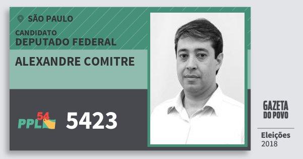 Santinho Alexandre Comitre 5423 (PPL) Deputado Federal | São Paulo | Eleições 2018