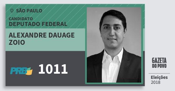 Santinho Alexandre Dauage Zoio 1011 (PRB) Deputado Federal | São Paulo | Eleições 2018