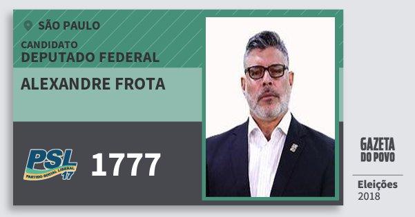 Santinho Alexandre Frota 1777 (PSL) Deputado Federal | São Paulo | Eleições 2018