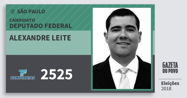 Santinho Alexandre Leite 2525 (DEM) Deputado Federal | São Paulo | Eleições 2018