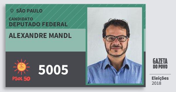 Santinho Alexandre Mandl 5005 (PSOL) Deputado Federal | São Paulo | Eleições 2018