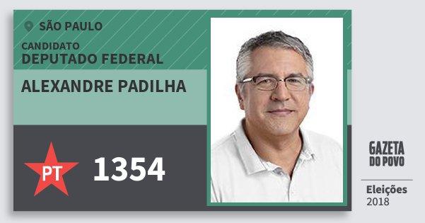 Santinho Alexandre Padilha 1354 (PT) Deputado Federal | São Paulo | Eleições 2018