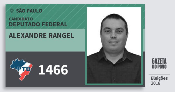 Santinho Alexandre Rangel 1466 (PTB) Deputado Federal | São Paulo | Eleições 2018