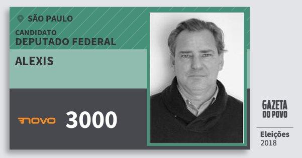 Santinho Alexis 3000 (NOVO) Deputado Federal | São Paulo | Eleições 2018